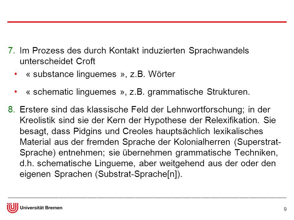 « substance linguemes », z.B. Wörter