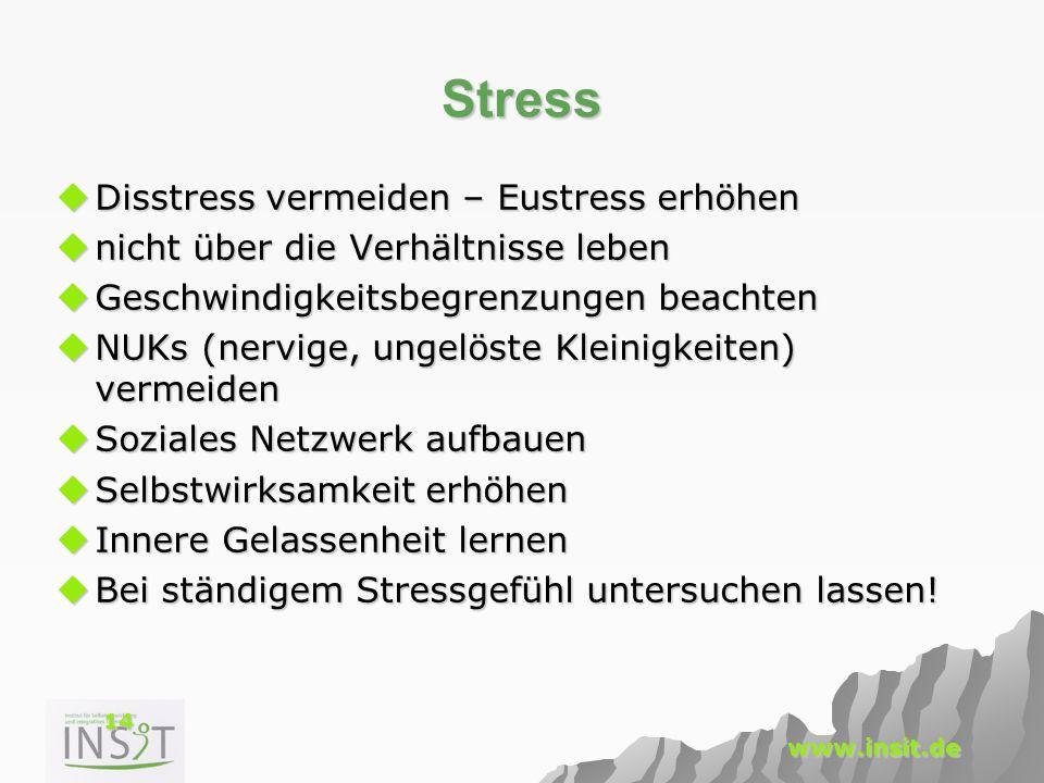 Stress Disstress vermeiden – Eustress erhöhen