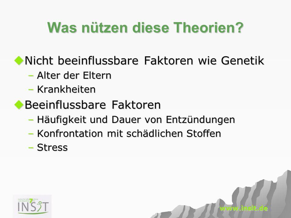 Was nützen diese Theorien