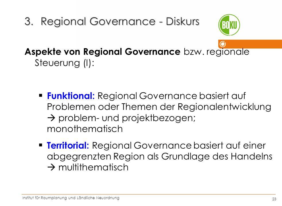 Regional Governance - Diskurs