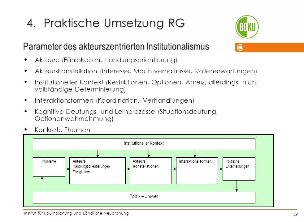 Praktische Umsetzung RG