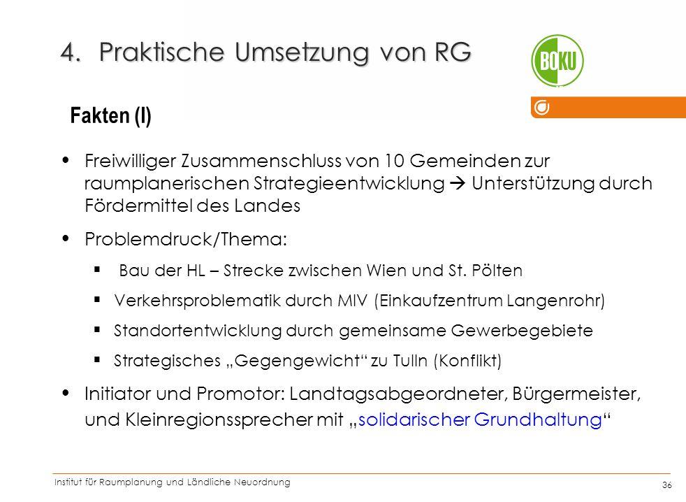 Praktische Umsetzung von RG