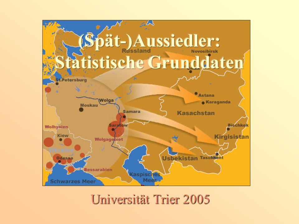 (Spät-)Aussiedler: Statistische Grunddaten