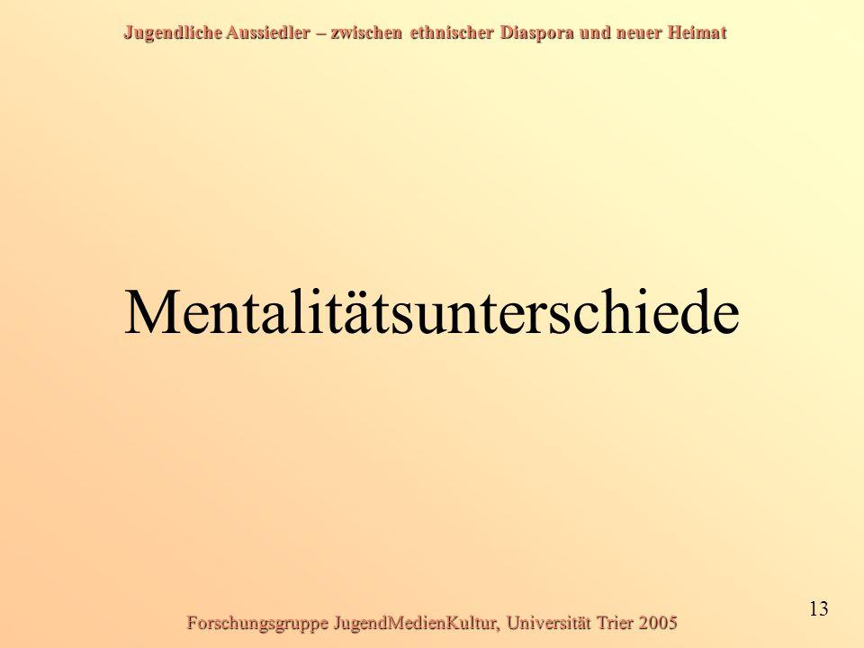 Mentalitätsunterschiede