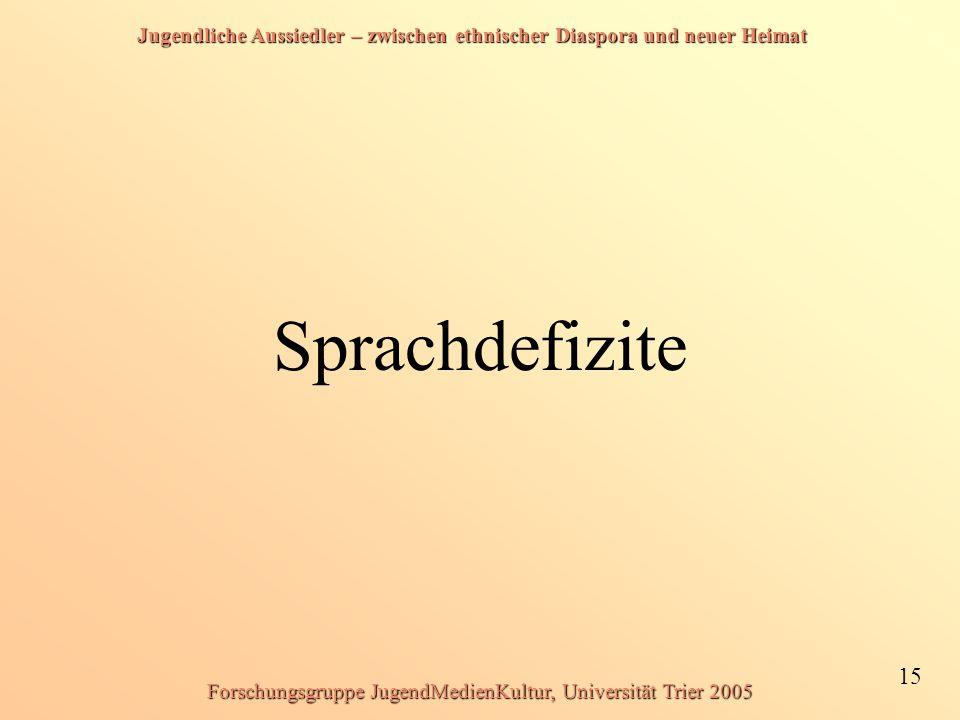 Forschungsgruppe JugendMedienKultur, Universität Trier 2005