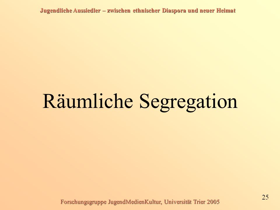 Räumliche Segregation