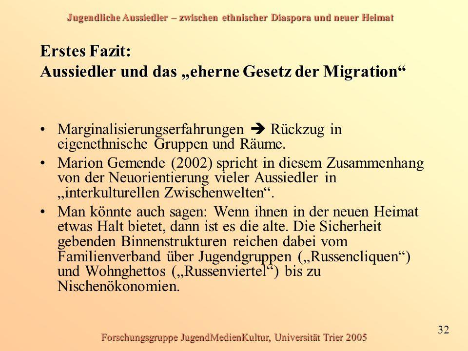 """Erstes Fazit: Aussiedler und das """"eherne Gesetz der Migration"""
