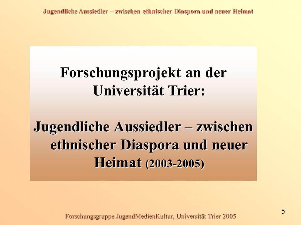 Forschungsprojekt an der Universität Trier: