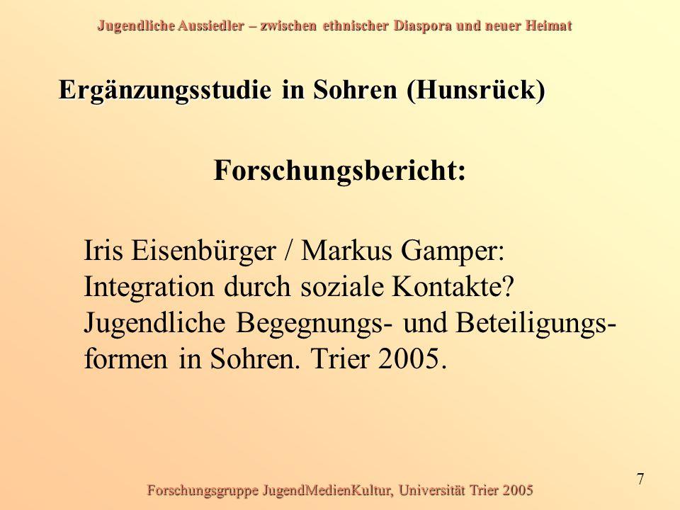 Ergänzungsstudie in Sohren (Hunsrück)