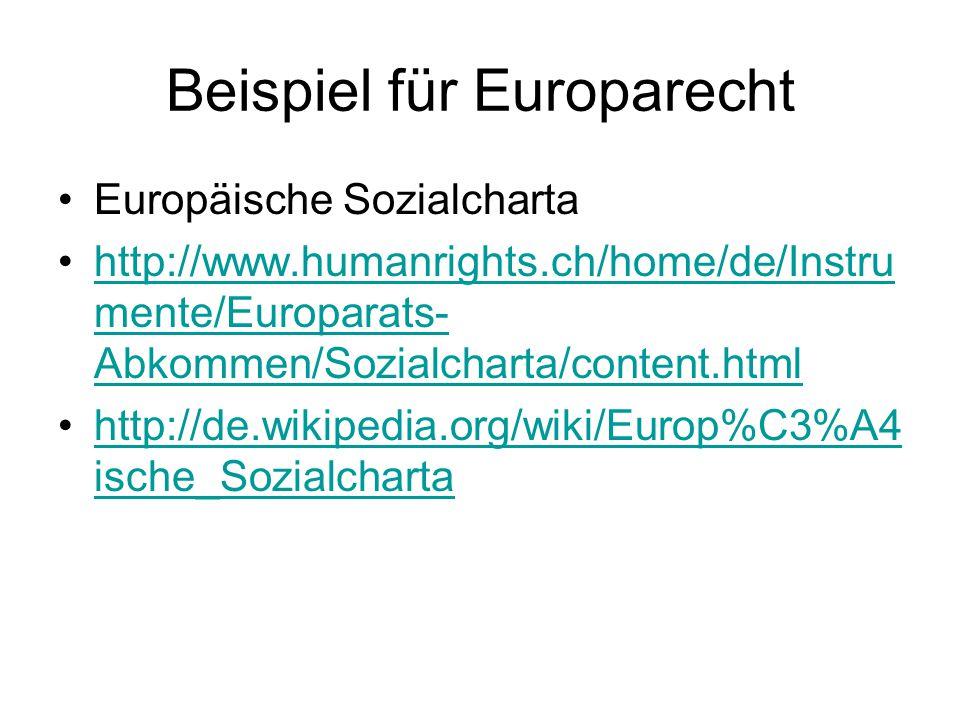 Beispiel für Europarecht