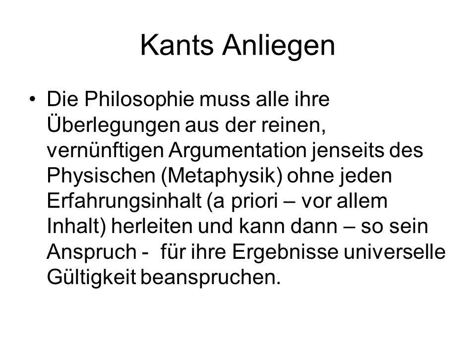 Kants Anliegen