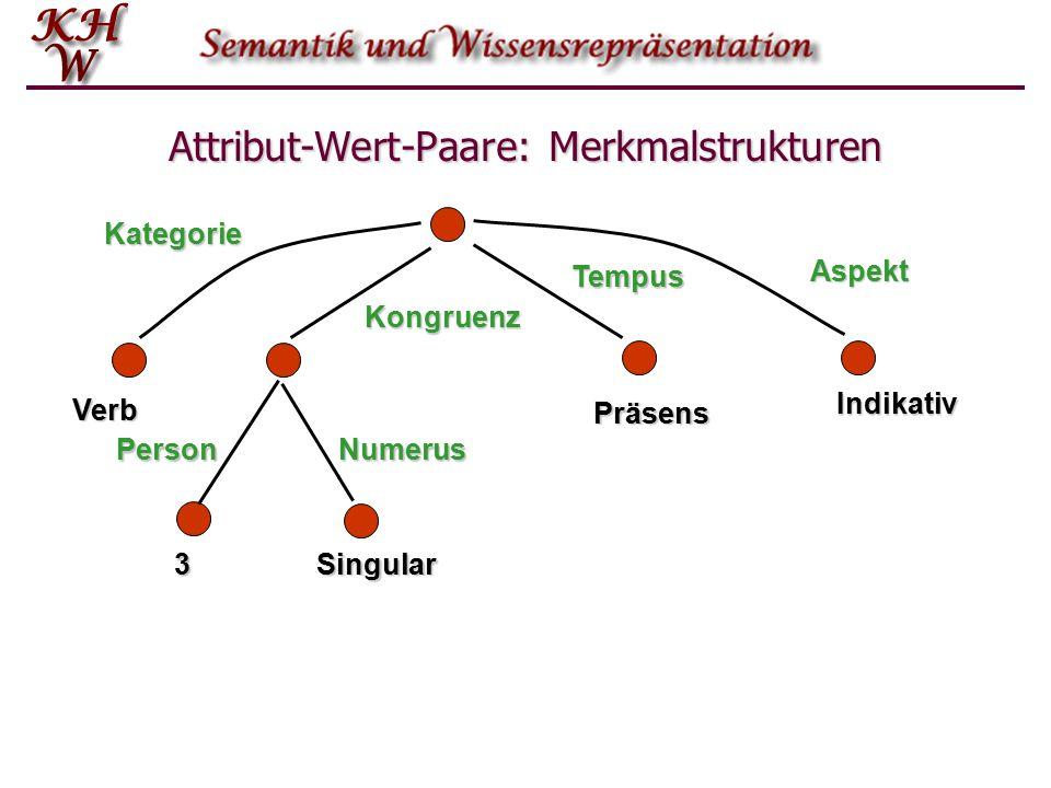 Attribut-Wert-Paare: Merkmalstrukturen