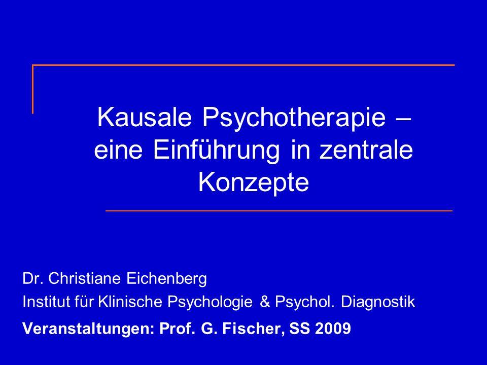 Kausale Psychotherapie – eine Einführung in zentrale Konzepte