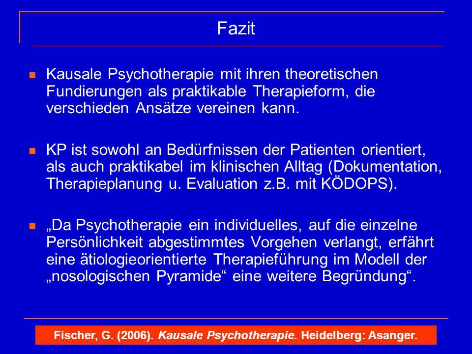 Fischer, G. (2006). Kausale Psychotherapie. Heidelberg: Asanger.