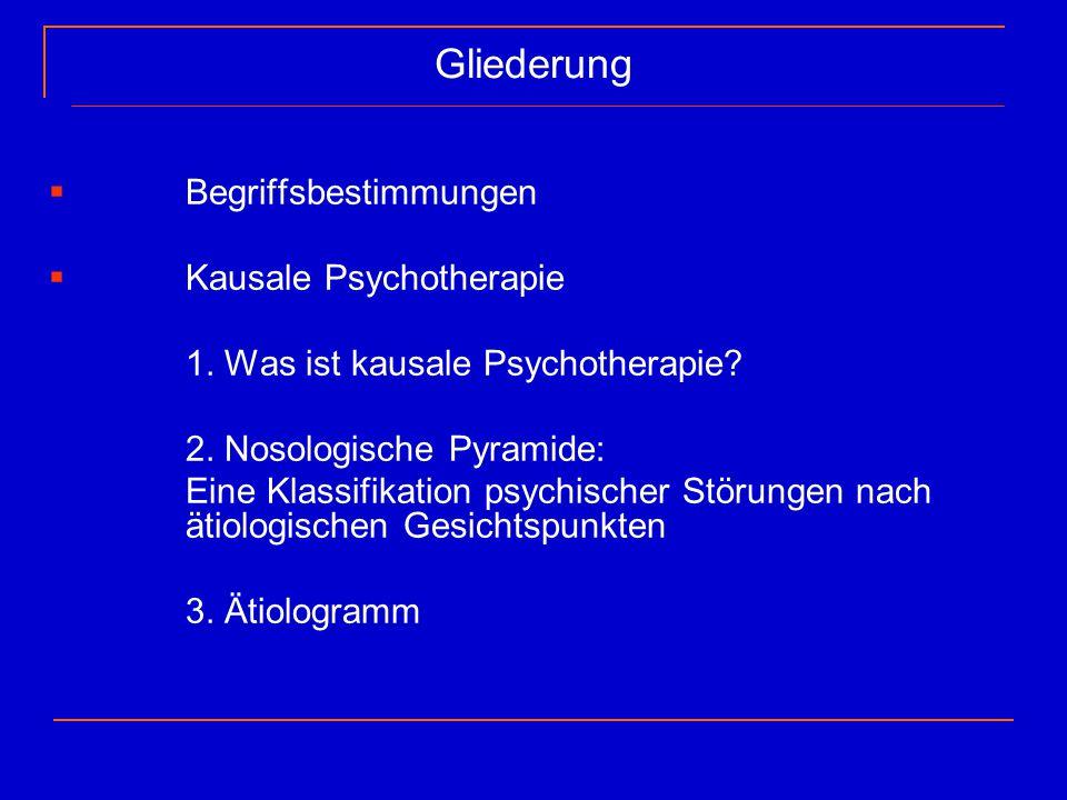 Gliederung Begriffsbestimmungen Kausale Psychotherapie