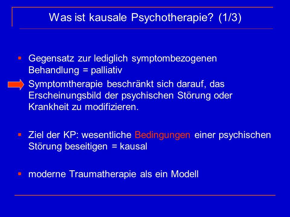 Was ist kausale Psychotherapie (1/3)