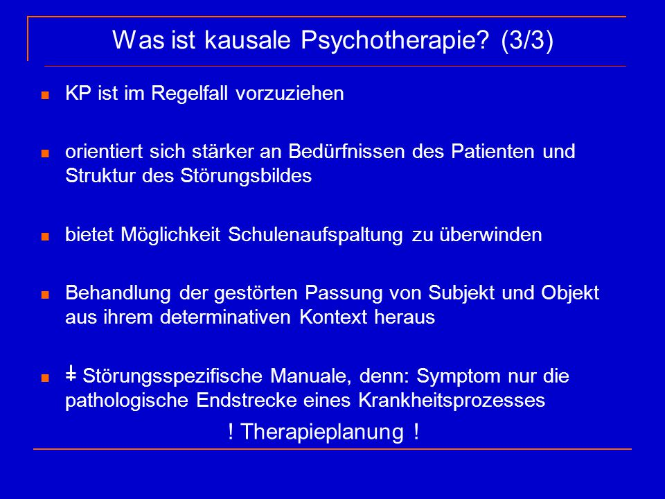 Was ist kausale Psychotherapie (3/3)