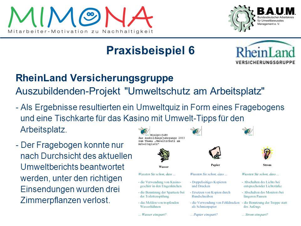 Praxisbeispiel 6 RheinLand Versicherungsgruppe