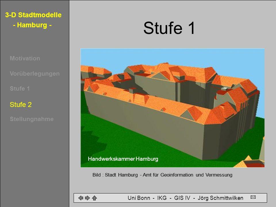 Stufe 2 Stufe 1 Vom Klötzchenmodell zum Wandmodell