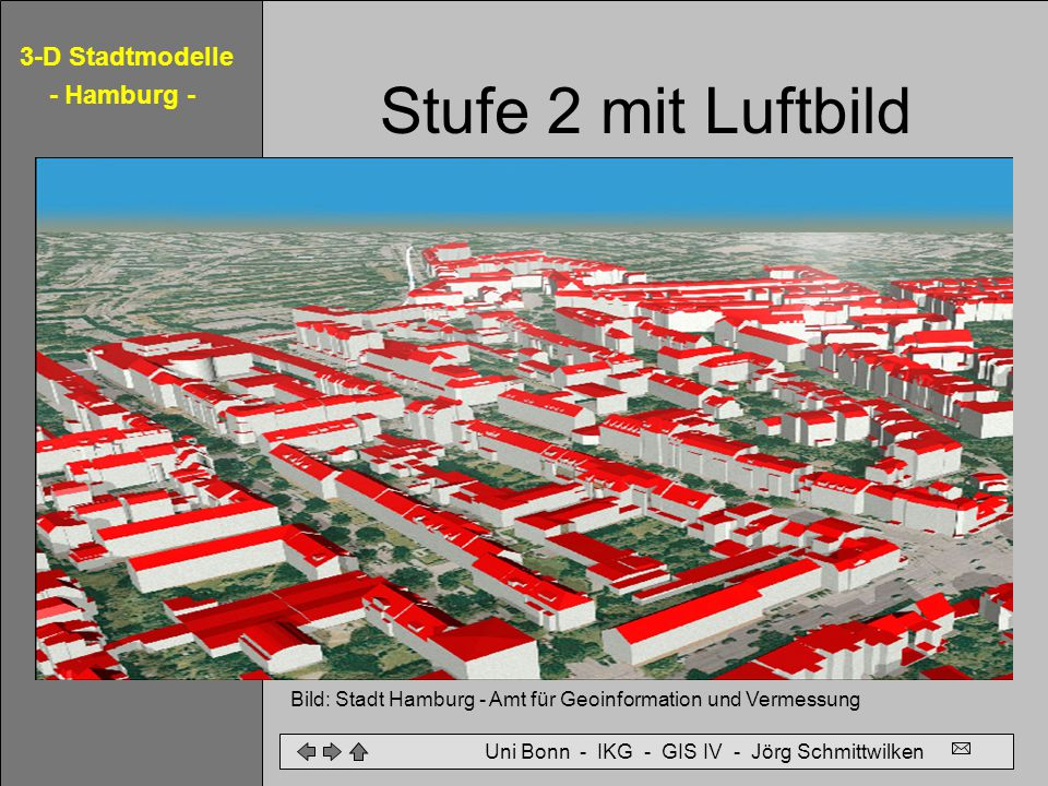 Stufe 2 mit Luftbild Bild: Stadt Hamburg - Amt für Geoinformation und Vermessung.
