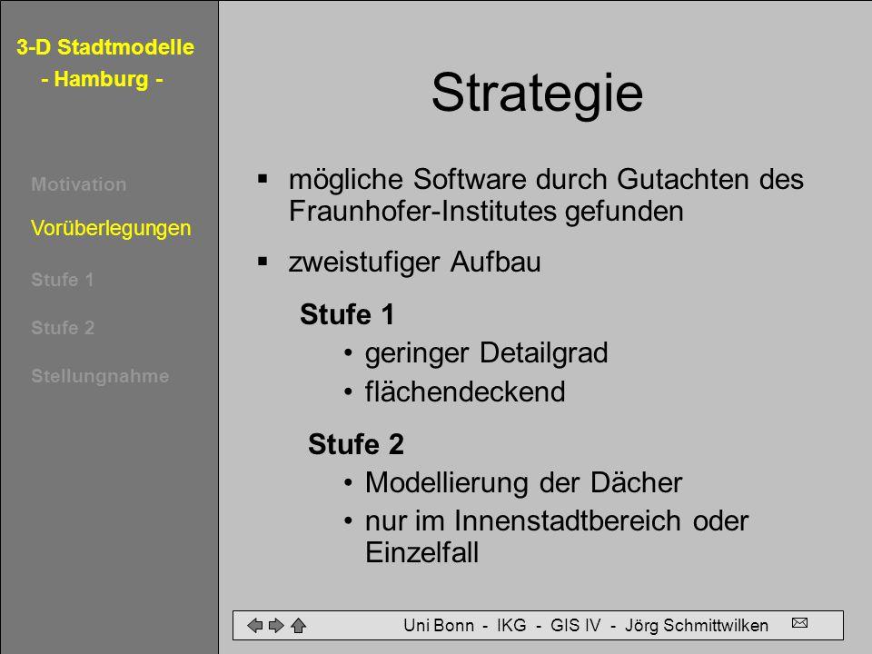 Strategie mögliche Software durch Gutachten des Fraunhofer-Institutes gefunden. zweistufiger Aufbau.