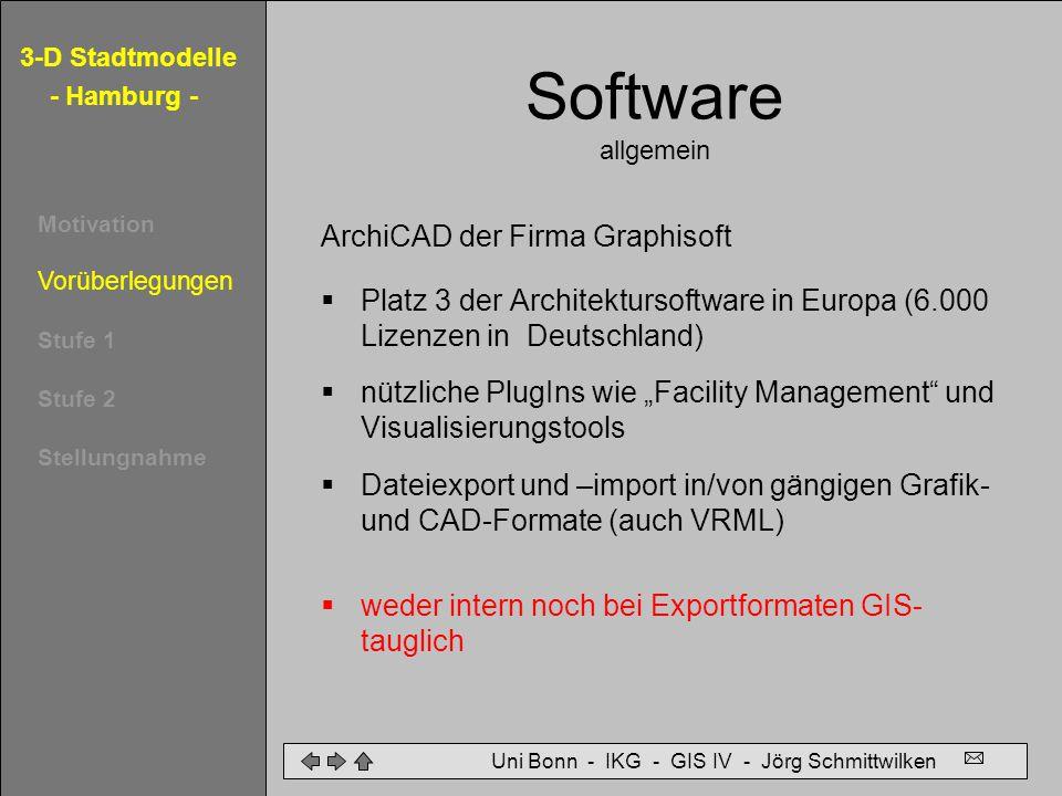 Software allgemein ArchiCAD der Firma Graphisoft