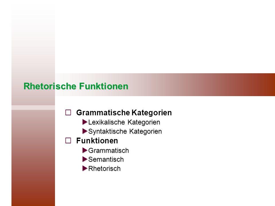 Rhetorische Funktionen