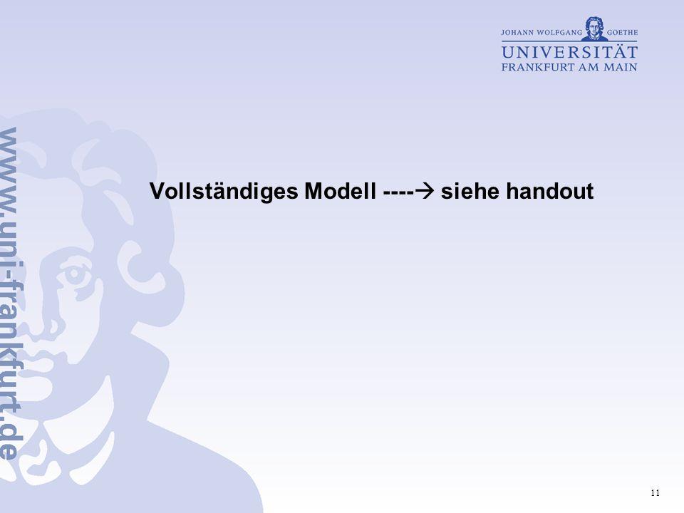 Vollständiges Modell ---- siehe handout