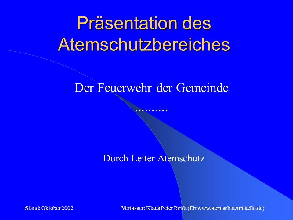 Präsentation des Atemschutzbereiches