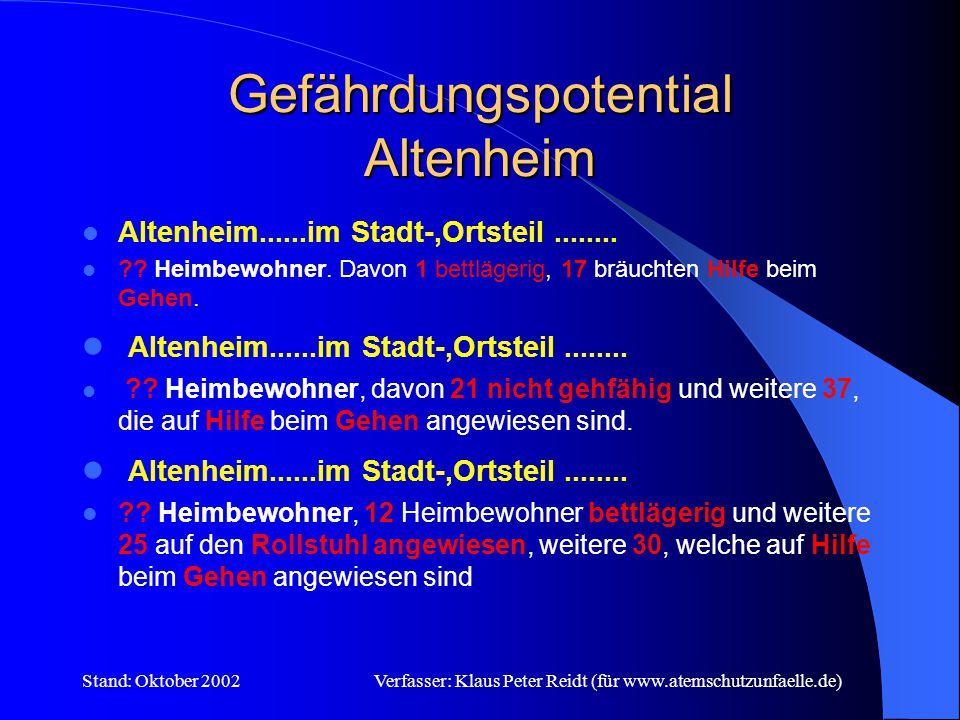 Gefährdungspotential Altenheim