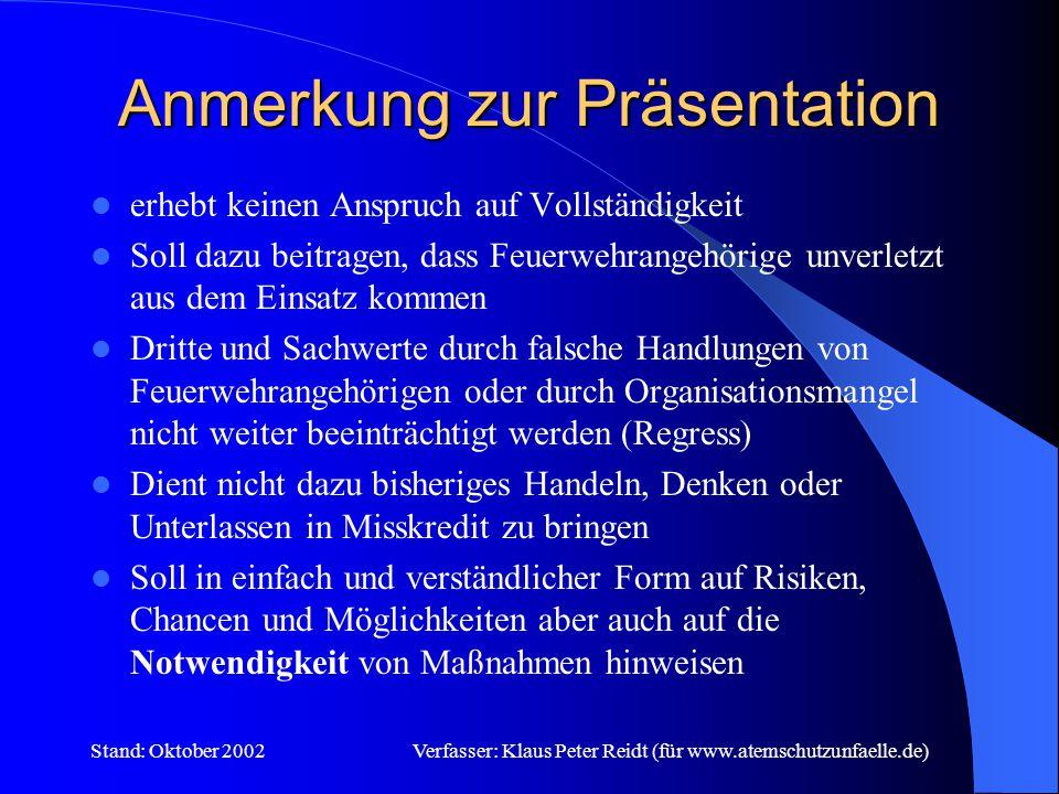 Anmerkung zur Präsentation