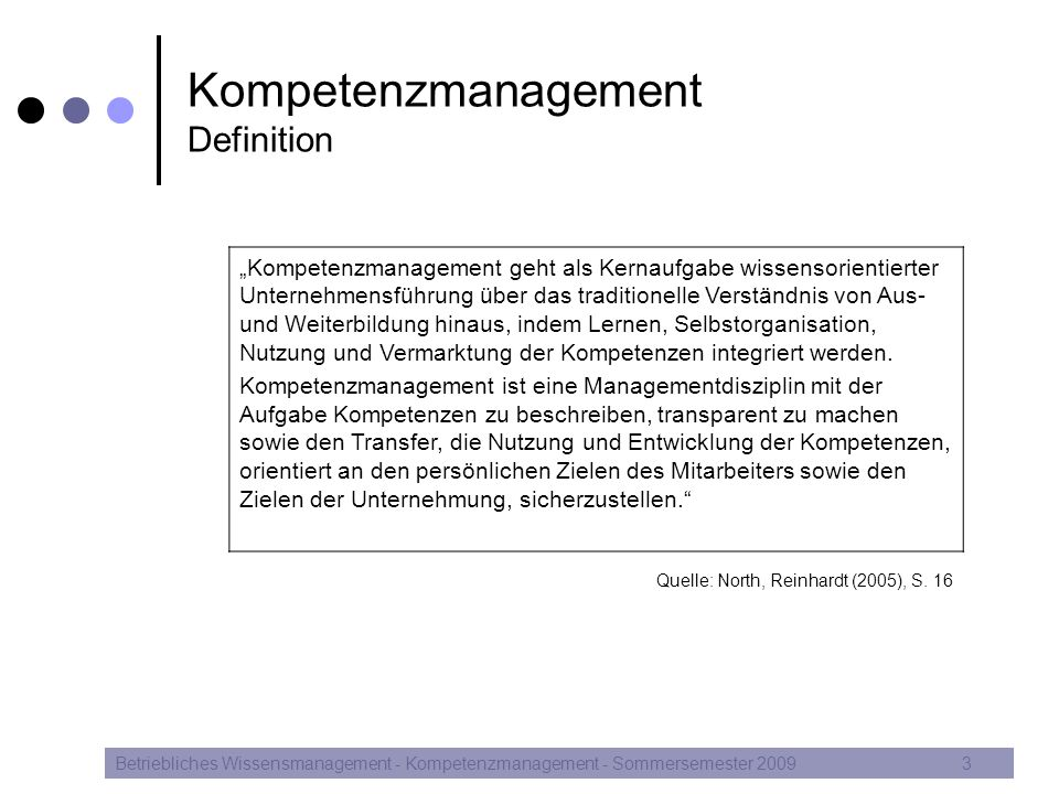Kompetenzmanagement Definition