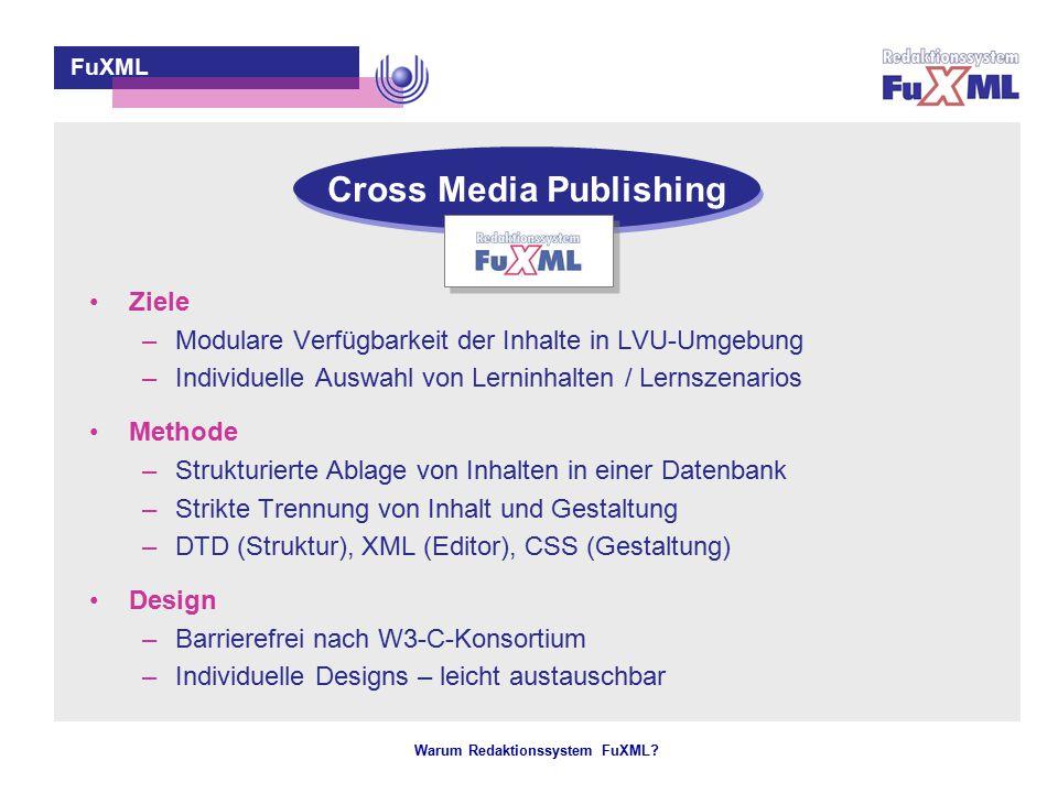Strukturierte Ablage von Inhalten & Trennung von Inhalt und Gestaltung