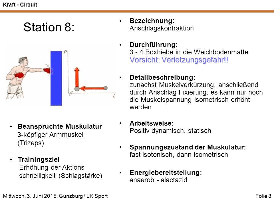Station 8: Bezeichnung: Anschlagskontraktion