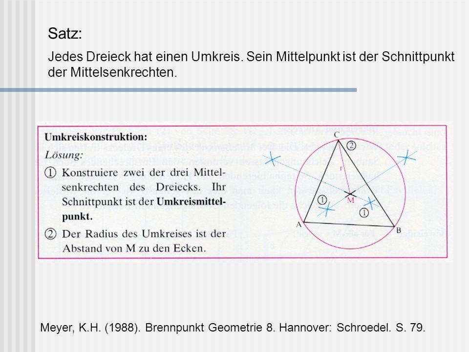 Satz: Jedes Dreieck hat einen Umkreis
