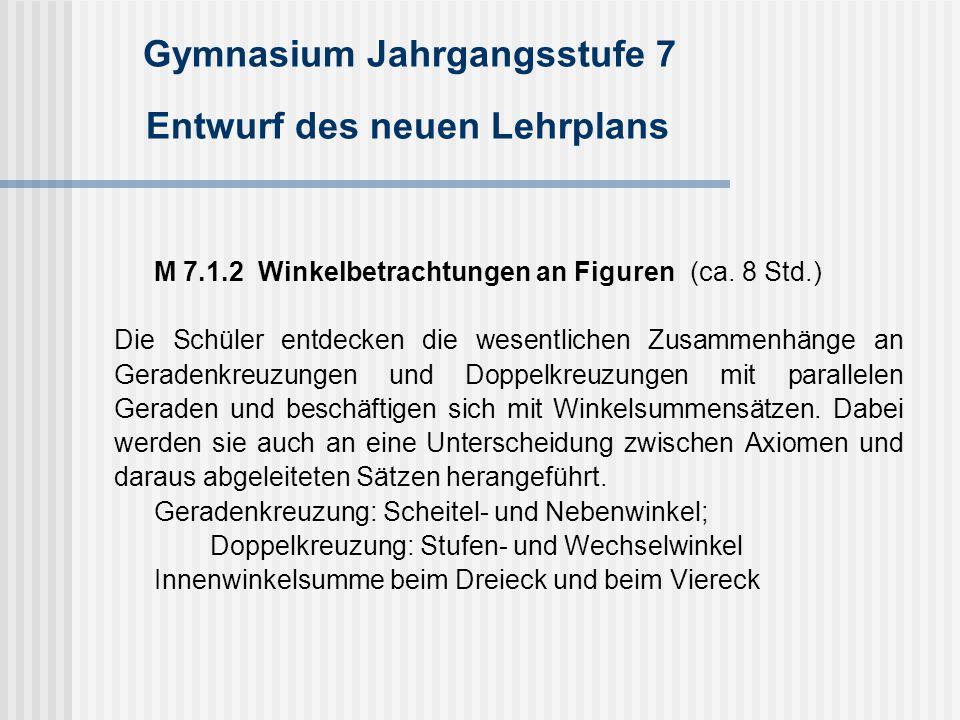 Gymnasium Jahrgangsstufe 7