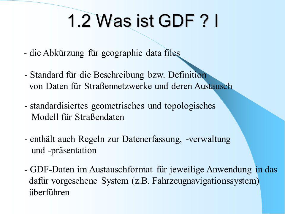 1.2 Was ist GDF I - die Abkürzung für geographic data files