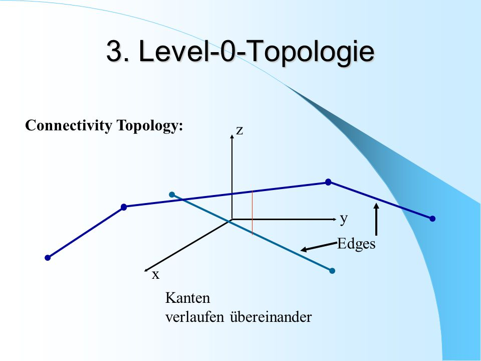 3. Level-0-Topologie Connectivity Topology: z y Edges x Kanten