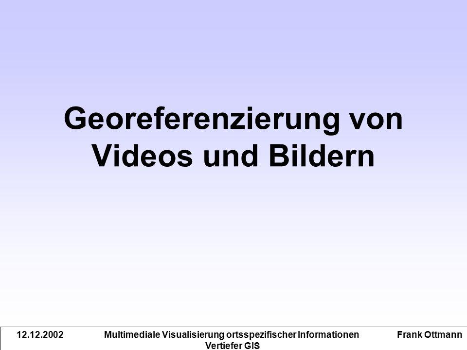 Georeferenzierung von Videos und Bildern