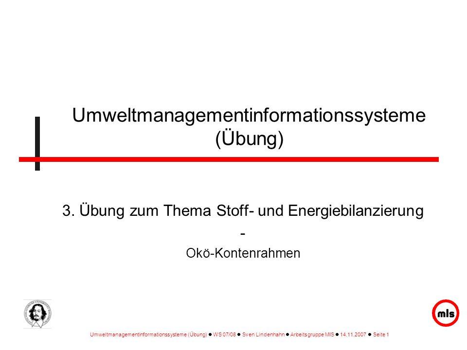 Umweltmanagementinformationssysteme (Übung)
