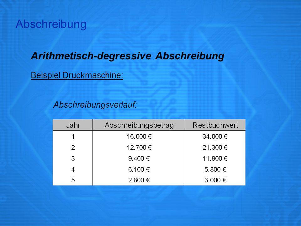 Abschreibung Arithmetisch-degressive Abschreibung