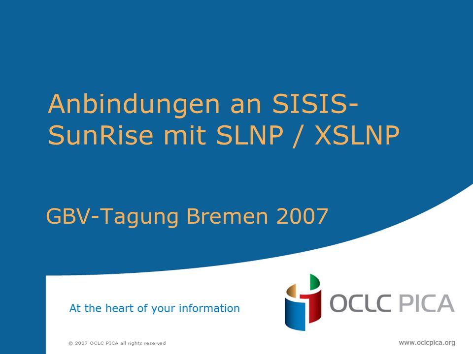 Anbindungen an SISIS-SunRise mit SLNP / XSLNP