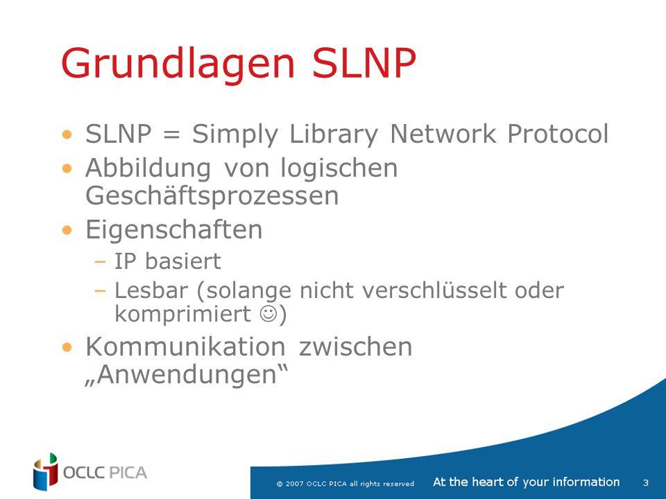 Grundlagen SLNP SLNP = Simply Library Network Protocol