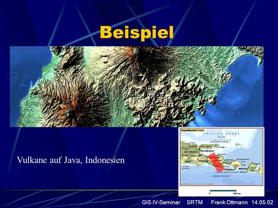 Beispiel Vulkane auf Java, Indonesien