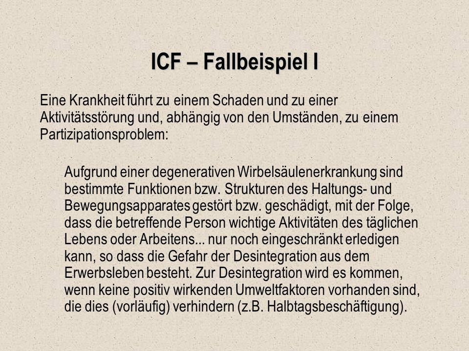 ICF – Fallbeispiel I
