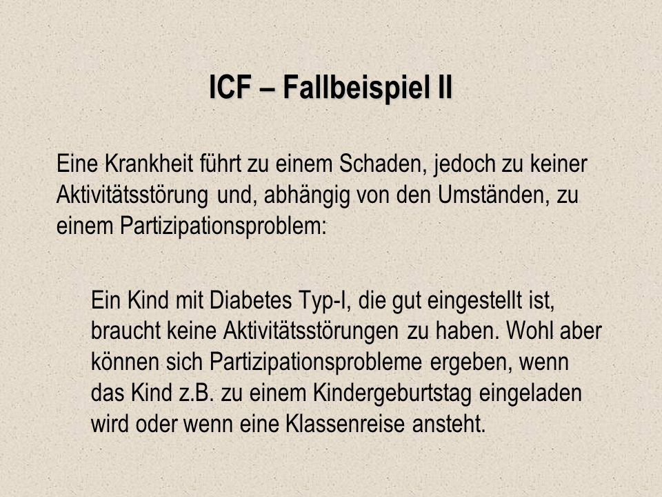 ICF – Fallbeispiel II