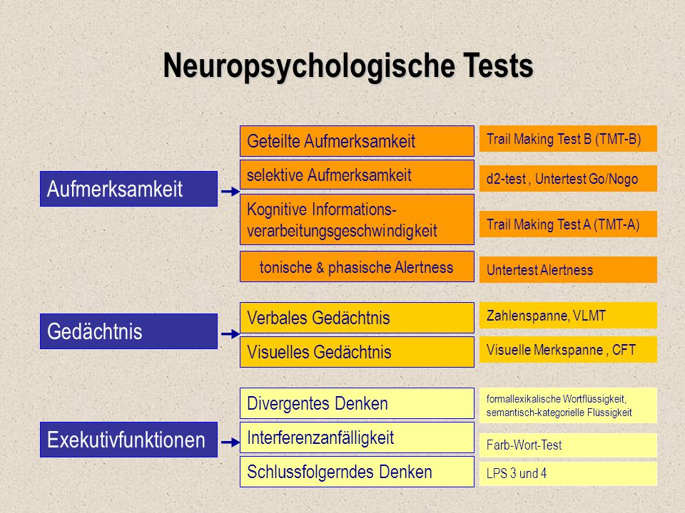 Neuropsychologische Tests