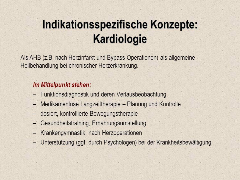 Indikationsspezifische Konzepte: Kardiologie