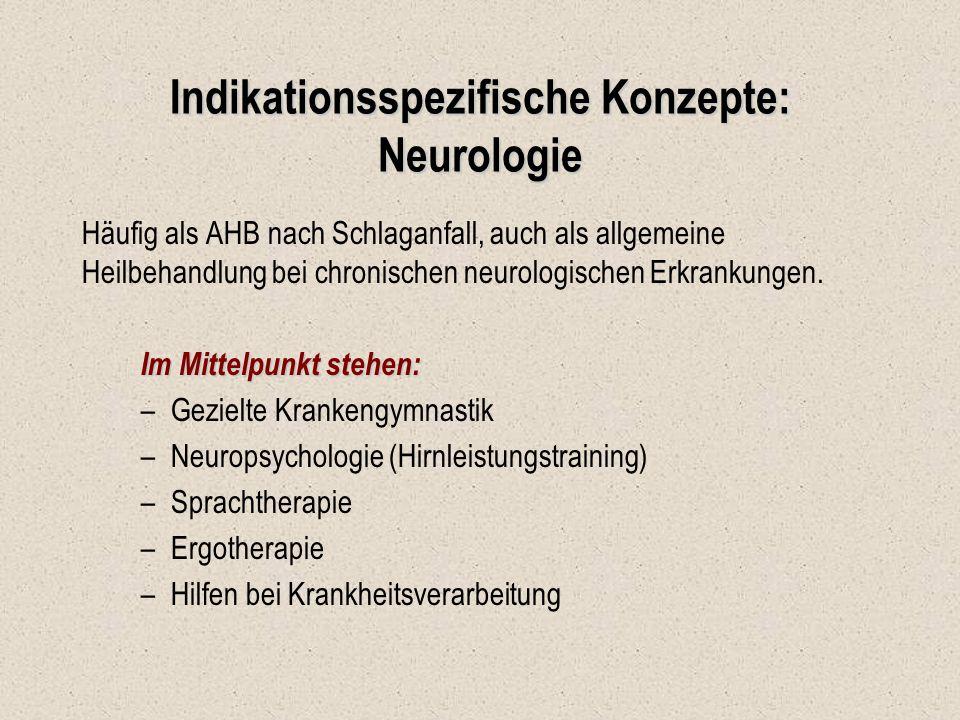 Indikationsspezifische Konzepte: Neurologie