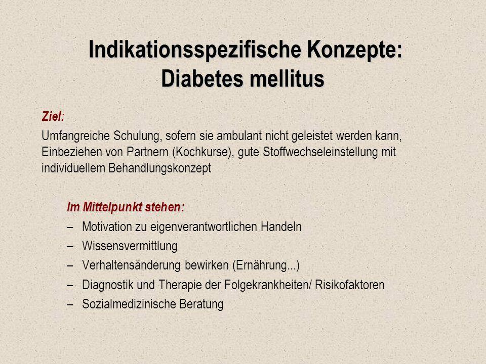 Indikationsspezifische Konzepte: Diabetes mellitus